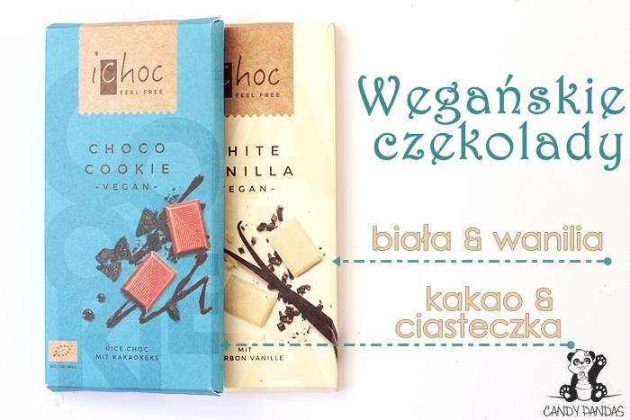 Wegańska biała czekolada z wanilią oraz czekolada z kawałkami ciastek kakaowych – Vivani Ichoc