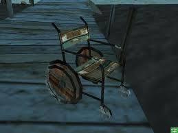 Rusty Wheel Chair(Kursi roda berkarat)
