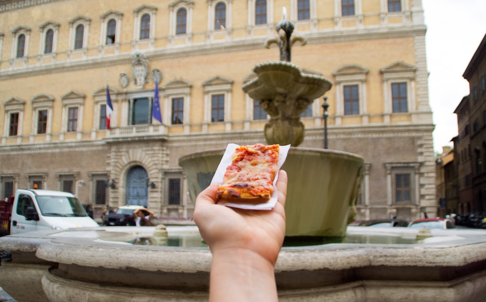 Pizza slice in Rome