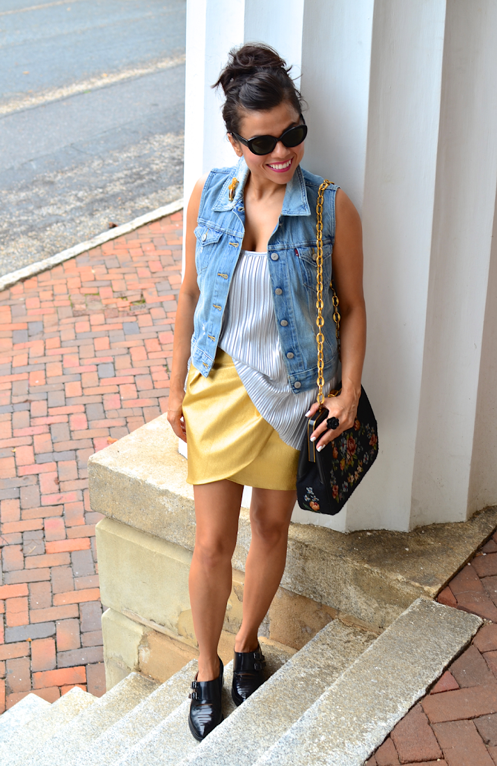 Denim with Metallics Outfit