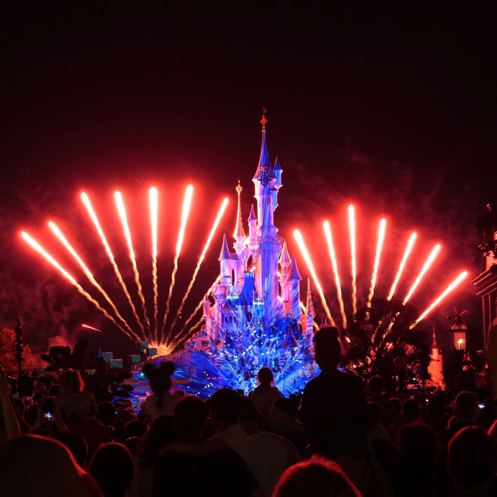 Fireworks at Disneyland Paris