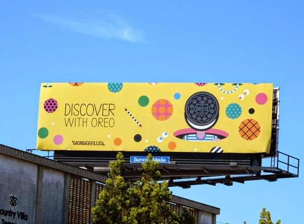Discover with Oreo Wonderfilled billboard