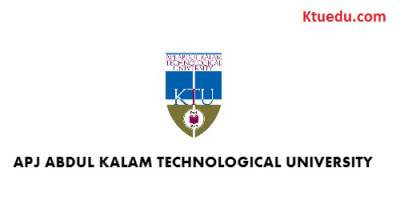 KTU B.Tech Second and Fourth Semester Examinations May / June 2017