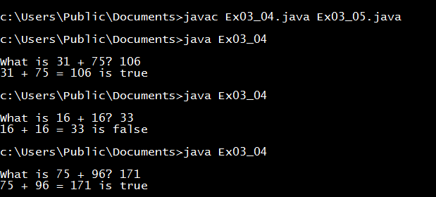 Liang Introduction to Java Programming exercise 3.4 solution