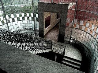 Escadarias no Interior do Cabildo, em Asuncion, Paraguai