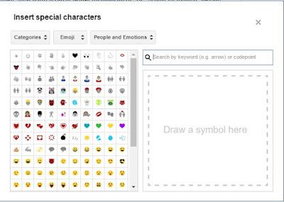 Fitur Baru Blogger Pada Posting Editor Untuk Memasukkan Karakter Spesial (Symbol, Emoji, Dll)