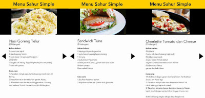 Menu Sahur Simple