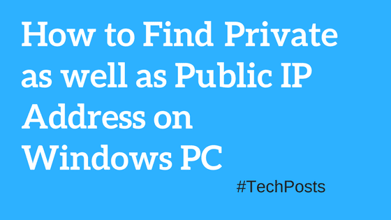 how to find ip address of windows computer