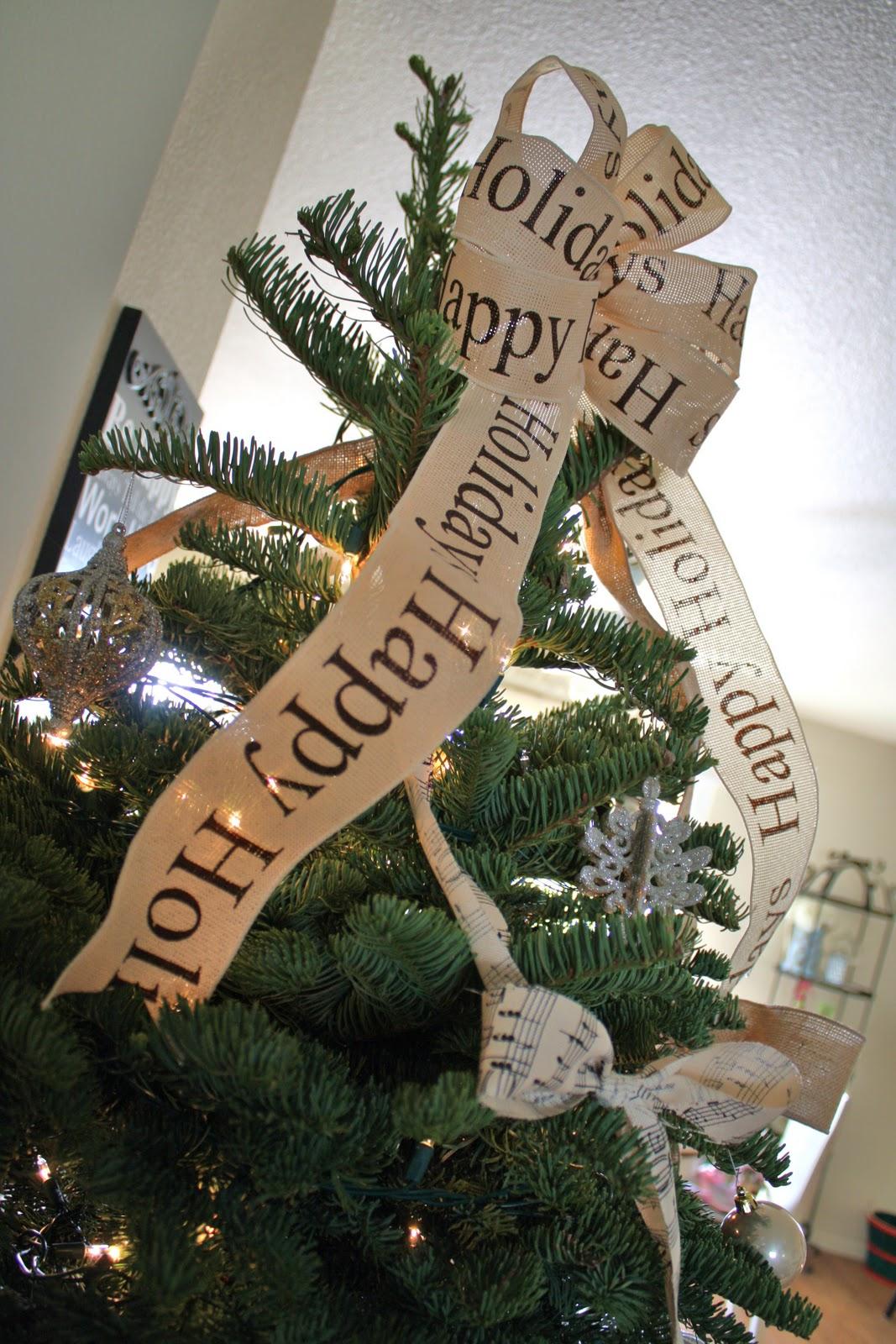 My Burlap  Bows Christmas Tree