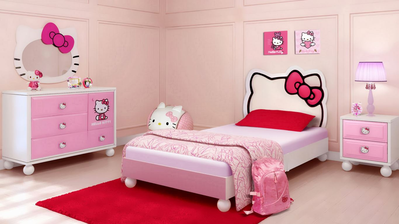 Hello Kitty Kids room design HD