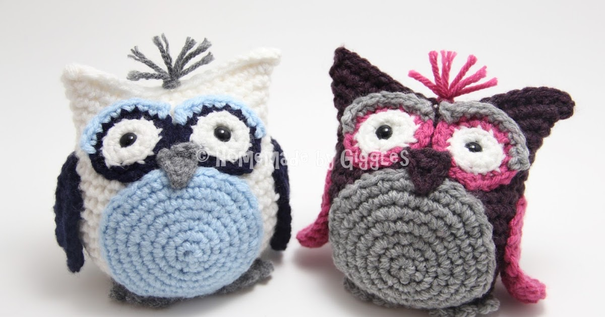Crochet Owl Bag Pattern Free : Homemade by Giggles: Bean Bag Owl - FREE Crochet Pattern!