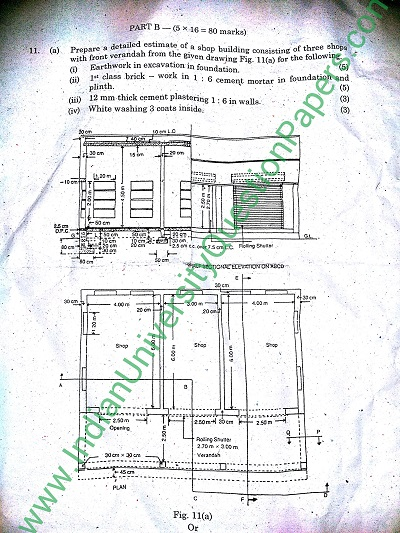 CE2402 Estimation and Quantity Surveying May June 2016 Question