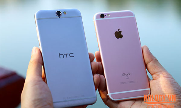 HTC One A9 cũ  so với iphone 6s cũ