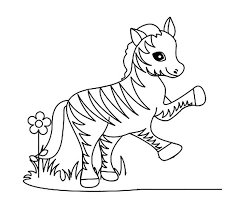 Cute Zebra Coloring Sheet Ideas - Bluelotusdc