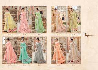 LT fabric Naisha Line Silk bridal Saree