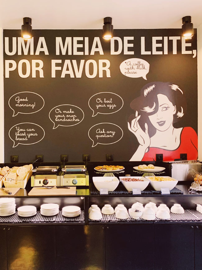 Where to stay in Lisbon - Gat Rooms Rossio - breakfast spread