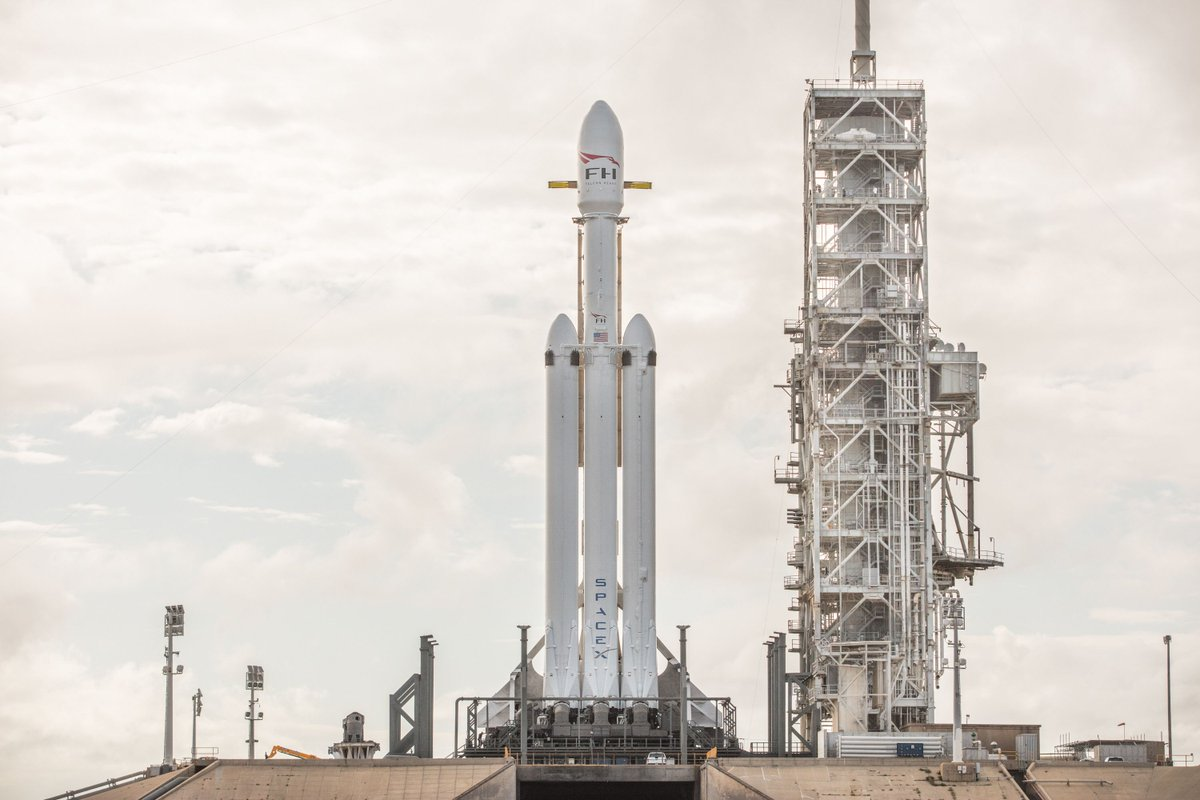 SpaceX sets Falcon Heavy launch date