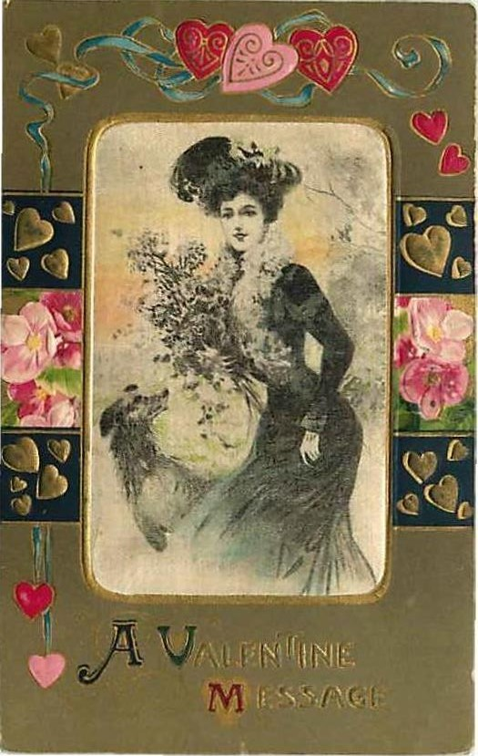 Edwardian Valentine's Day Postcard