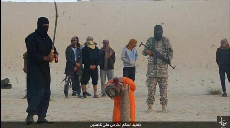 being beheaded Girl