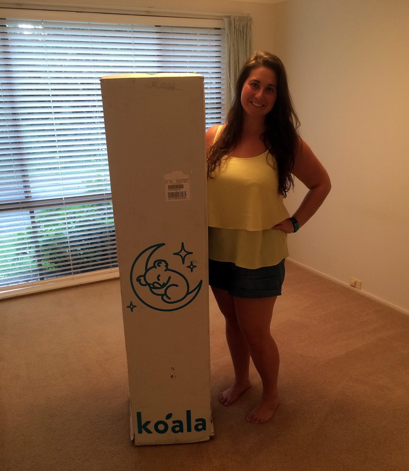Girl with Koala Mattress-In-a-Box