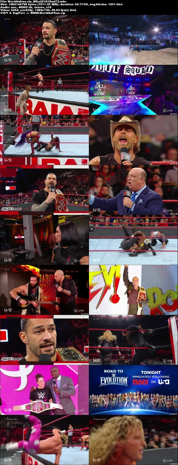 WWE Monday Night RAW 22 OCTOBER 2018 720p HDTV 1Gb x264 world4ufree.fun tv show wwe monday night raw wwe show monday night raw compressed small size free download or watch onlne at world4ufree.fun