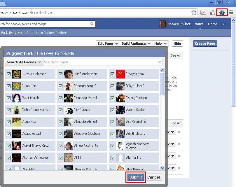 Facebook Invite All Friends In Single Click Google Chrome Extension