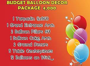 Budget Ballon Decor Package 4,000