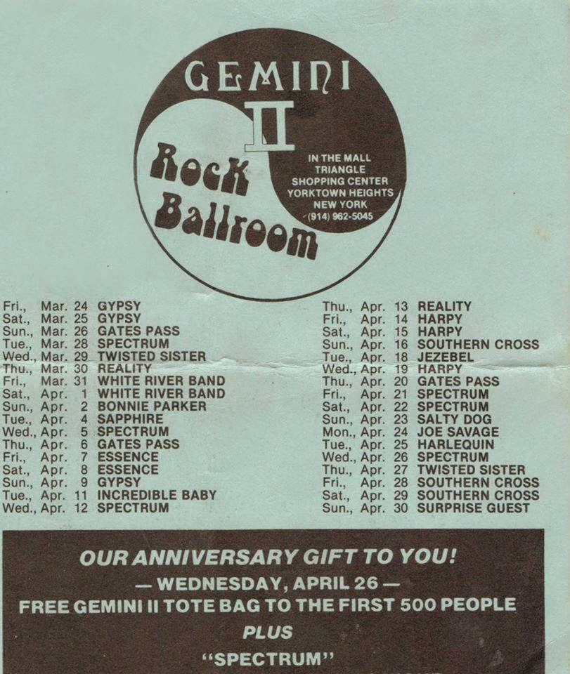 Gemini rock club calendar