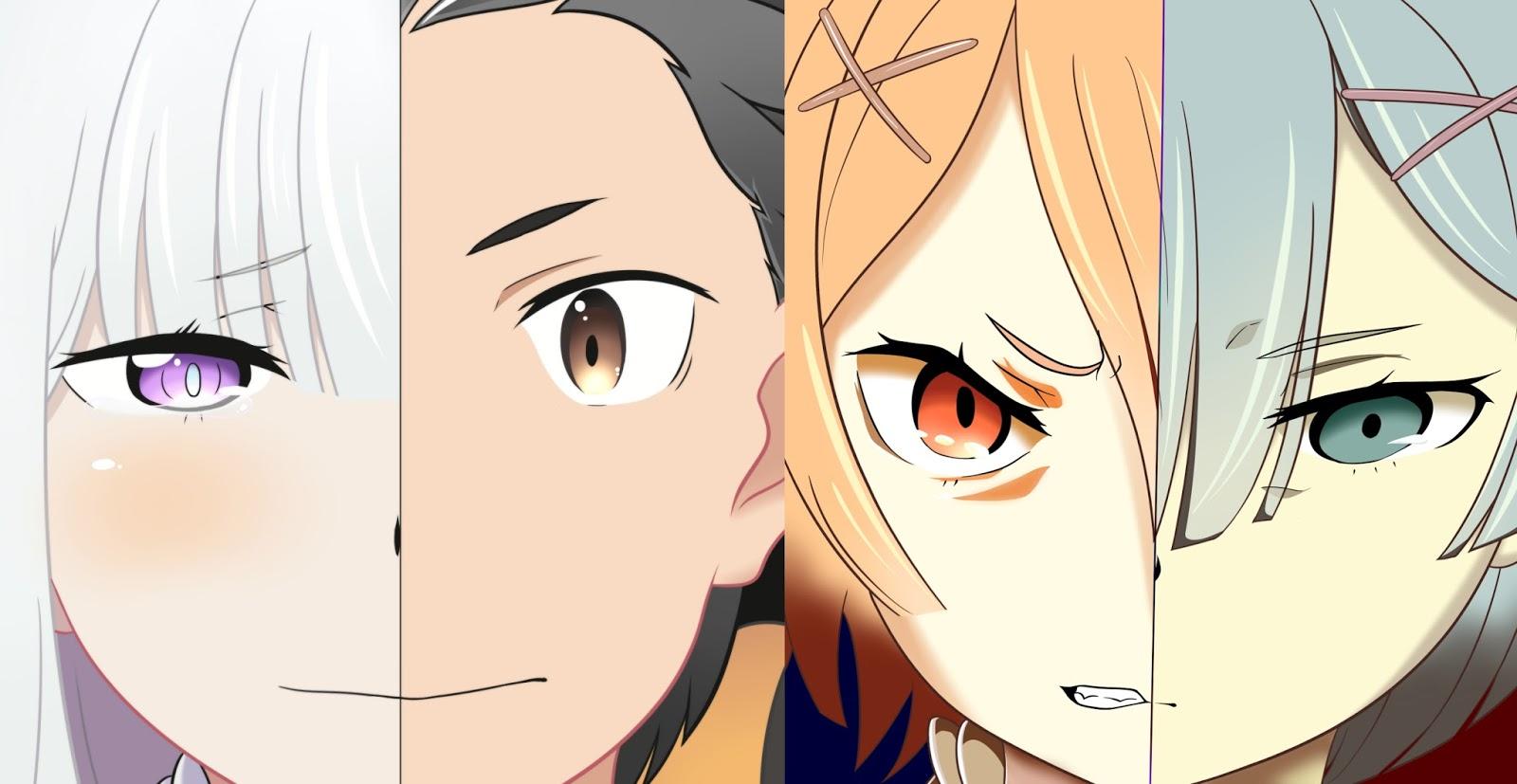 Re:Zero Kara Hajimeru Isekai Seikatsu Emilia and Rem