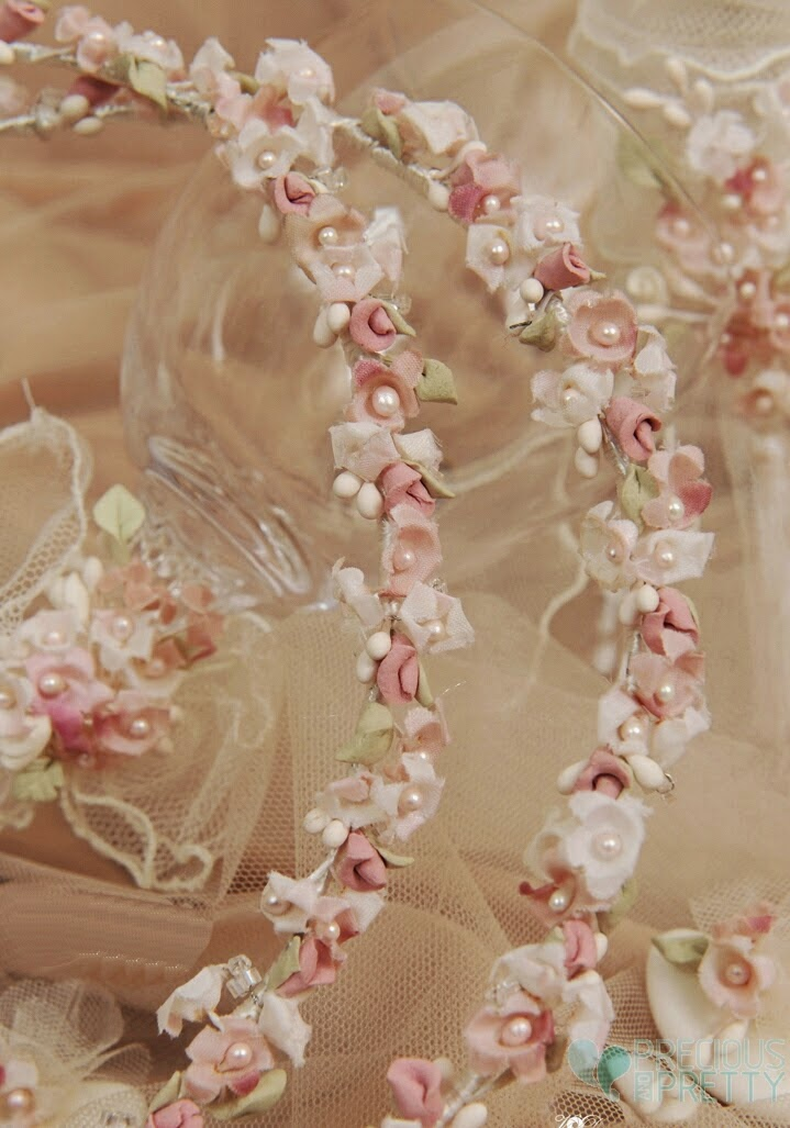 Wedding crowns romantic with blossoms and flowers