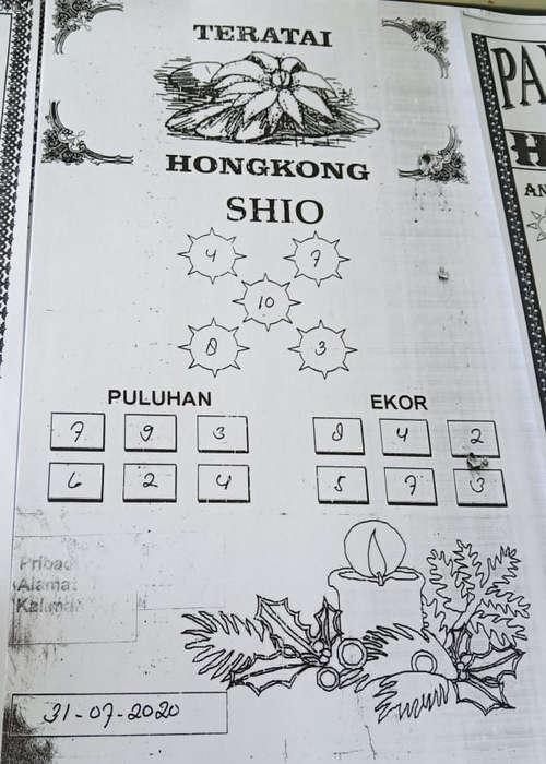 Kode syair Hongkong Jumat 31 Juli 2020 91