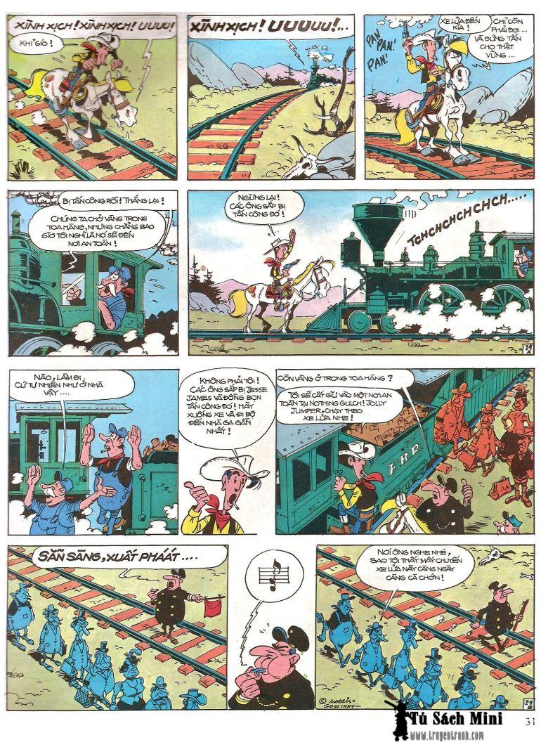 Lucky Luke tap 16 - jesse james hiep si rung xanh trang 33