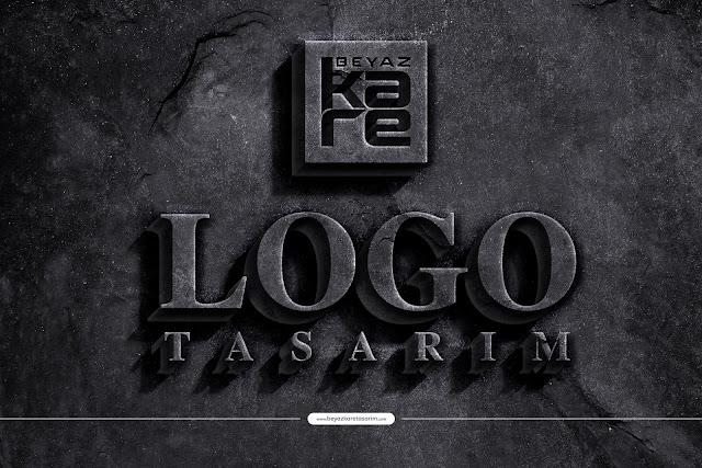 3D logo tasarımı  eski beton duvar
