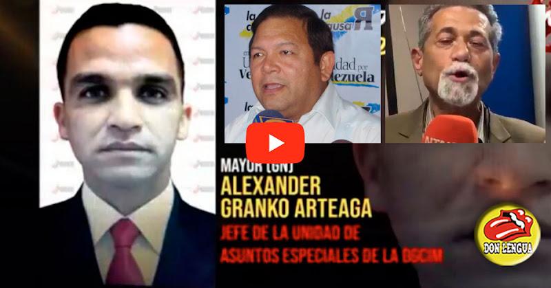 Régimen ordena al funcionario Alexander Granko Arteaga a eliminar a Américo de Grazia y a Andrés Velásquez