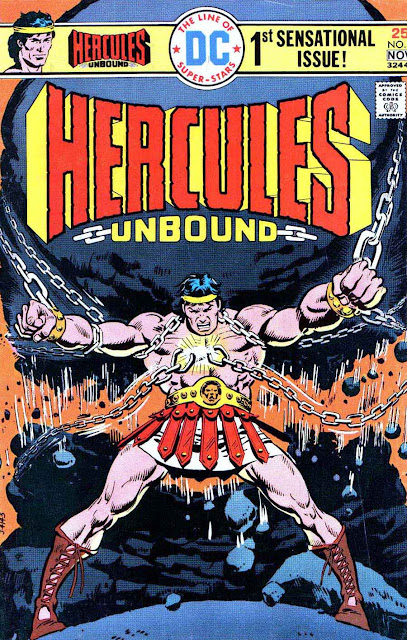 Hercules Unbound v1 #1, 1975 dc bronze age comic book cover