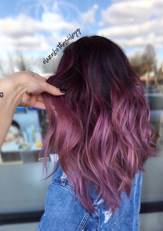 Burgundy Hair Ombre