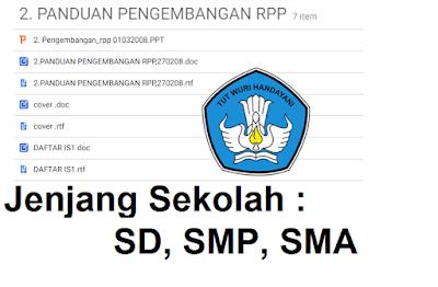 Download Panduan Pengembangan RPP Tahun 2008 - Galeri Guru