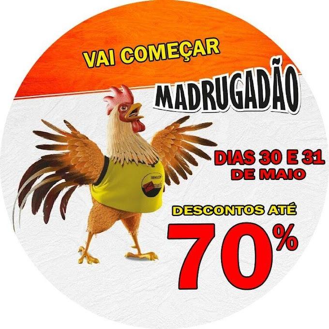 Nos dias 30 e 31 de maio, vai rolar o Madrugadão Paraíba!
