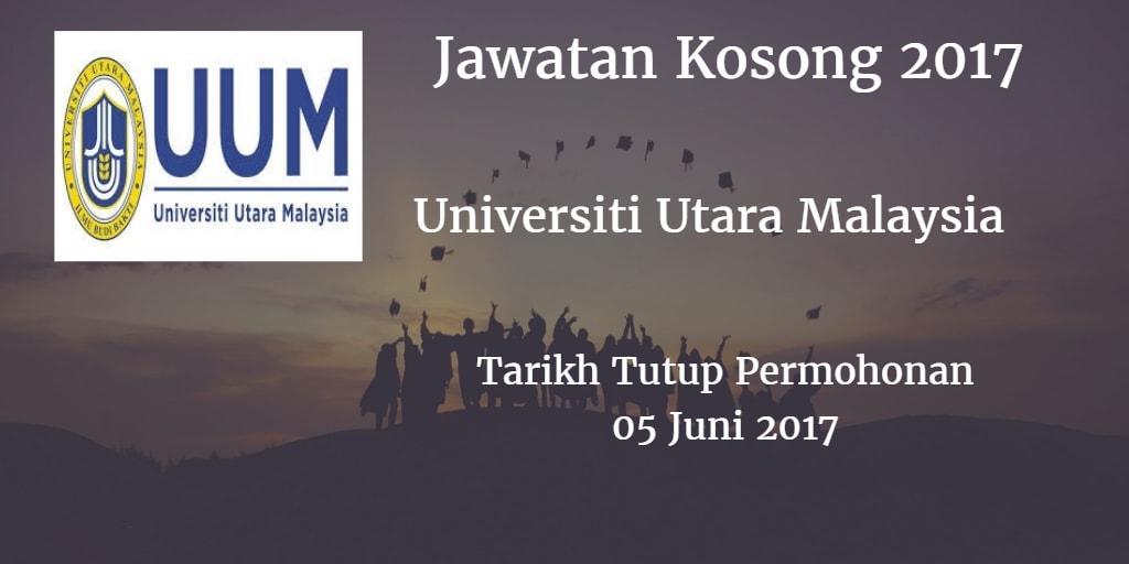 Jawatan Kosong UUM 05 Juni 2017