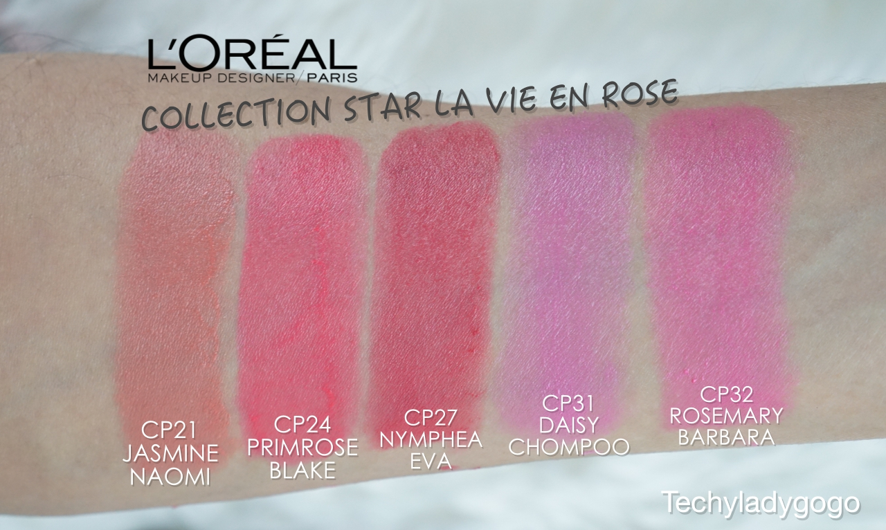 COLLECTION STAR LA VIE EN ROSE BY COLOR RICHE (ราคาแท่งละ 399 บาท)