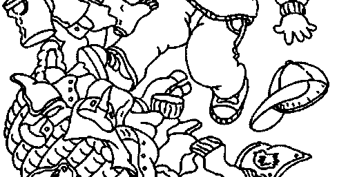 Coloring Activity Pages D W Arthur Tripping Over Dirty Laundry Basket Coloring Page