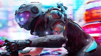 Cyberpunk, Tattoo, Biker, Sci-Fi, Digital Art, 4K, #121