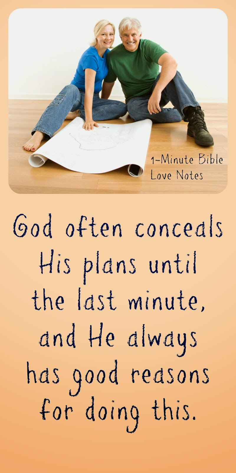 God often waits until the last minute to reveal his plans