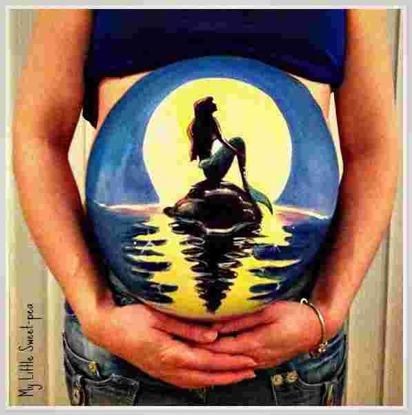 Pregnant Belly Artworks seni melukis perut wanita hamil yang keren