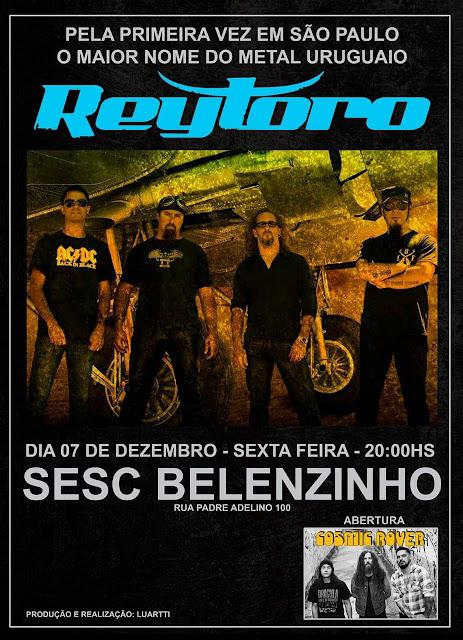 Reytoro: uruguaios invadem o SESC Belenzinho no dia 7 de dezembro!