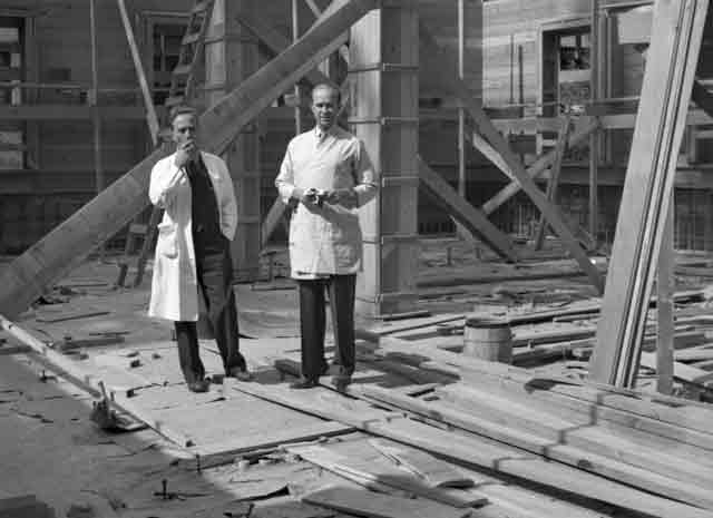 Construction at Berkeley Medical Physics Building, 11 October 1941 worldwartwo.filminspector.com