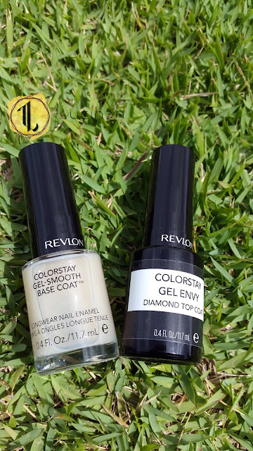 Revlon ColorStay Gel-Smooth Base Coat and Gel Envy Diamond Top Coat - www.modenmakeup.com
