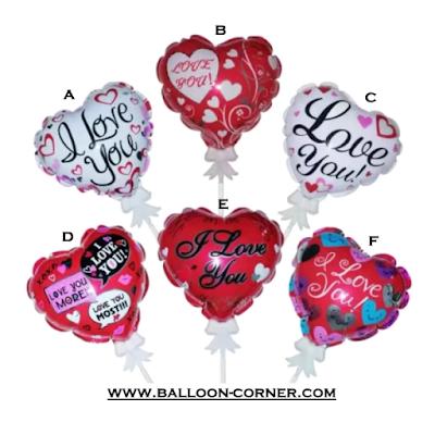 Mini Love Foil Balloon Cake Topper