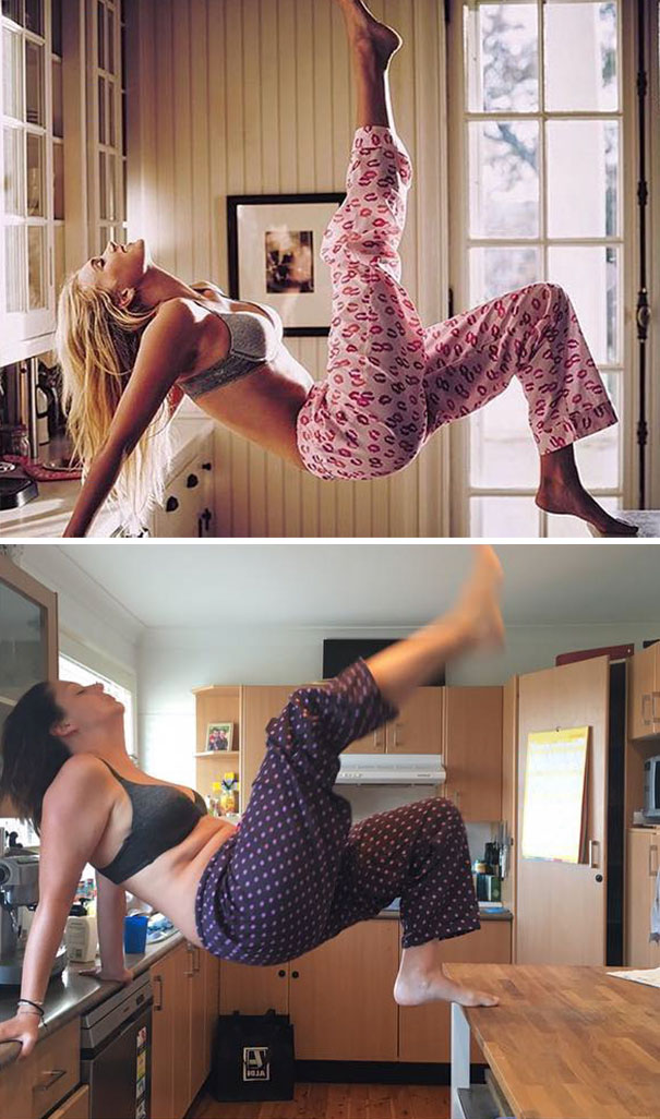 Woman Hilariously Recreates Celebrity Instagram Photos (Part 2) - Gooood Morning Saturday!