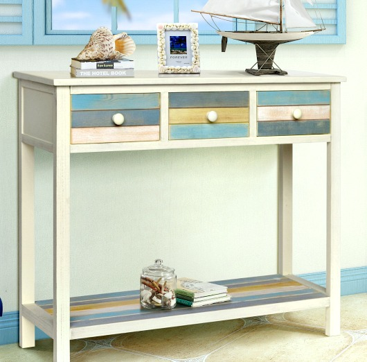 Beach Color Console Table